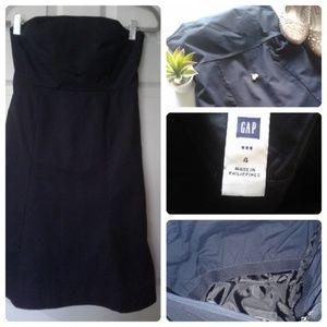 Strapless Navy Blue Midi dress